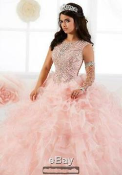 2020 Beaded Ruffles Organza Quinceanera Ball Gown Princess Party Pageant Dresses