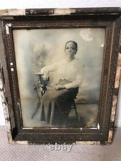 Antique 1800s Large Portrait of Wealthy African American Black Woman