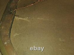 Antique Early 1900's Wooden Frame Bubble Glass Picture Photo Man Woman Convex