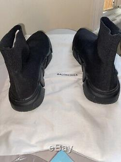 Balenciaga Speed Trainer Runner Women's Size8 Black as the picture