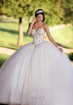 Beaded Sweet Corset Ball Gown Quinceanera Formal Pageant Party Wedding Dresses
