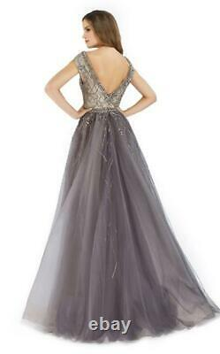 Beaded V Neck Mermaid Formal Prom Pageant Evening Celebrity Party Dresses Gown