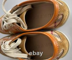 Burberry Haymarket Vintage Check Low-Top Sneakers Shoes Trainers New 38.5