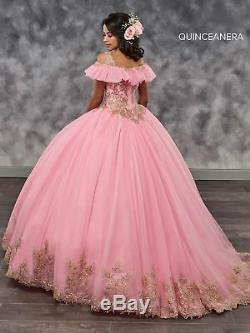 Burgundy Gold Quinceanera Dresses Ball Gown Sweet 16 Pageant Party Evening Dress