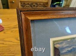 CHARLES M RUSSELL WHEN MULES WEAR DIAMONDS western 18x14 WOOD PICTURE FRAME VTG