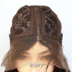 Colored Ombre Human Hair Wig 13x6 Curly T Lace Front Women Human Hair Wigs