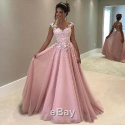 Dusty Pink A Line Quinceanera Dresses Lace Applique Cap Sleeves Tulle Prom Gown