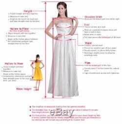 Gold Mermaid Formal Pageant Gown Evening Prom Dresses Long Sheer Sequined Custom
