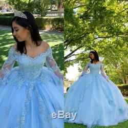 Gorgeous Ball Gown Quinceanera Dresses Beaded Pageant Prom Party Sweet 16 Dress