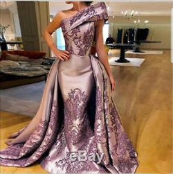 Gorgeous Celebrity Long Evening Gown Applique Mermaid Pageant Prom Party Dresses
