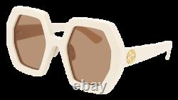 Gucci Sunglasses GG0772S 002 Ivory brown Woman