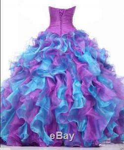 Hot Long Ball Gown Party Prom Princess Quinceanera Formal Evening Dress Custom