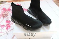 Hot sale Shoe Balenciaga Speed Trainer Runner women's Size8 Black as the picture