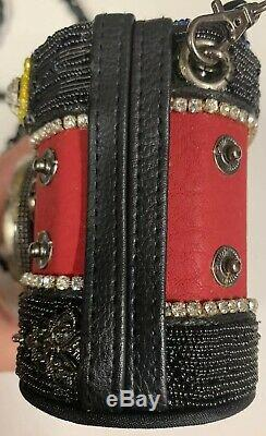 Mary Frances Vintage Camera Purse/Handbag Picture Perfect Red/Blue Beaded New