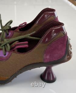 Miu Iconic Vintage Deadstock Heel Sneakers Trainers Court Shoes Mules New 37