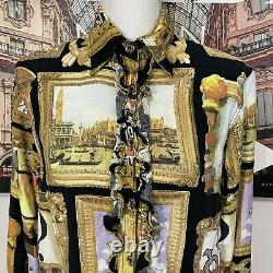 Moschino Jeans Vintage Picture Frame Ruffle Shirt