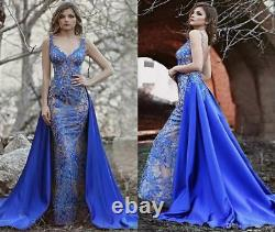 New Applique Mermaid Celebrity Dress Sexy Formal Prom Party Pageant Evening Gown
