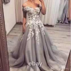 New Applique Off Shoulder Prom Dresses Long Cocktail Party Pageant Evening Gowns