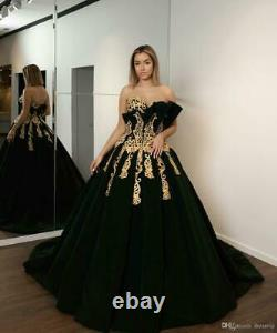 New Applique Sweet prom Dresses Celebrity Pageant Party Quinceanera Evening Gown