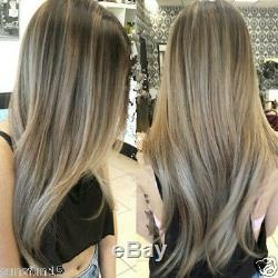 New Ash Blonde Human Hair Wig 100% Brazilian Ombre Full Lace Wig Lace Front Wig
