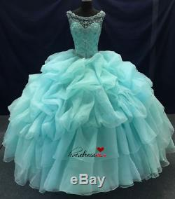New Quinceanera Dress Party Evening Dresses Ball Formal Prom Pageant Custom Size