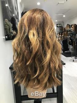 Ombre Balayage Human Hair Wig 100% Brazilian Remy Full Lace Wig Lace Front Wig