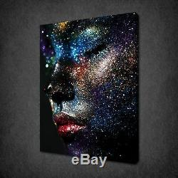 Portrait Of The Glitter Woman On Canvas Wall Art Print Picture Ready To Hang