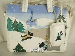 Radley At Home In The Snow Large Signature Picture Multiway Shoulder or Grab Bag