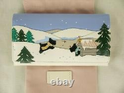 Radley At Home In The Snow White Leather Signature Picture Matinee Purse Wallet
