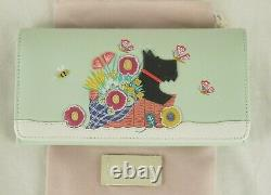 Radley Basket Bouquet Signature Picture Matinee Purse Wallet Large Leather New