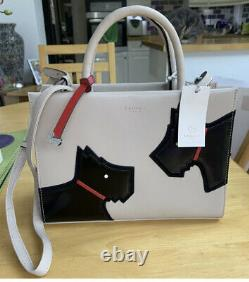 Radley'Face to Face' Picture Multiway Grab Leather Handbag BNWT