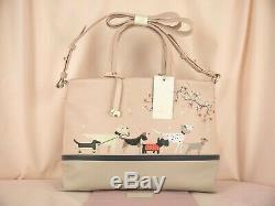 Radley & Friends Multiway Cross Body Bag Pale Pink Leather Signature Picture New