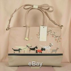 Radley & Friends Signature Picture Multiway Pale Pink Leather Cross Body Bag New