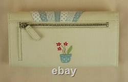 Radley Market Day Ivory Leather Signature Picture Matinee Purse Wallet New