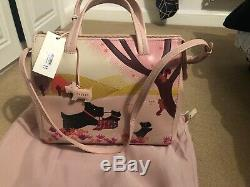 Radley Over The Hills Pink Leather Signature Picture Multiway Bag New With Tags
