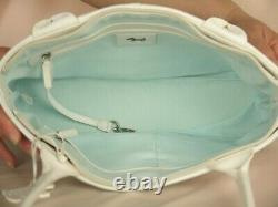 Radley Poppyfields Picture White and Mulitcoloured Leather Shoulder Bag Large