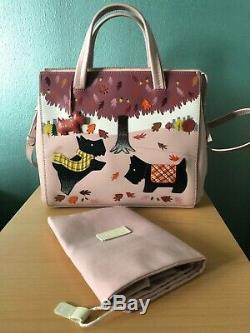 Radley Rare Autumn Days Leather Limited Edition Picture Bag, Pink