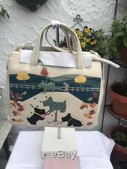 Radley Signature'Dog of The Manor' 2018 Leather Multi Way Picture Grab Bag BNWT