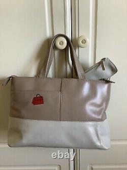 Radley Signature Leather Picture Bag'Retail Therapy' With Coinpurse And Dustbag