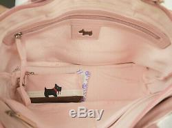 Radley Tearaway Pink Leather Grab Bag Signature Picture Medium New