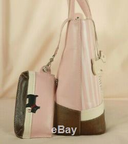 Radley Tearaway Pink Leather Signature Picture Grab Bag Medium Size New