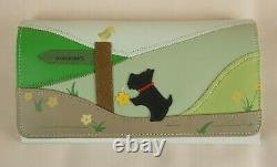 Rambling Radley Leather Signature Picture Matinee Purse Wallet New