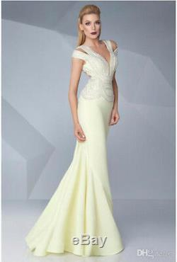 Sexy Mermaid Formal Prom Evening Dresses Bead Pearl Pageant Cocktail Party Gown