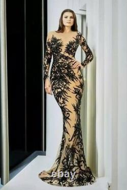 Sexy Open Back Mermaid Evening Dresses Celebrity Prom Party Carpet Pageant Gown