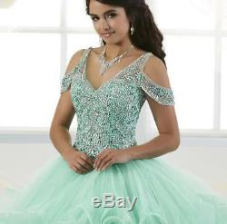 Shiny Crystal Tulle Quinceanera Dresses 2019 Christmas Party Pageant Ball Gown