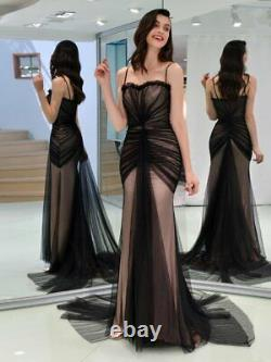 Spaghetti Straps Trumpet Mermaid Evening Dress Cocktail Party prom Pageant Gown