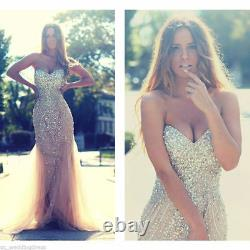 Sparkly Crystal mermaid Evening Formal party Celebrity prom Gown Pageant Dresses