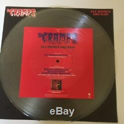 The Cramps All Women Are Bad UK 12 Picture Disc Autographed by Lux & Ivy COA