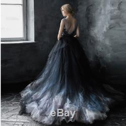 Tulle Black White Quinceanera Pageant Ball Gowns Wedding dress Prom dress Custom