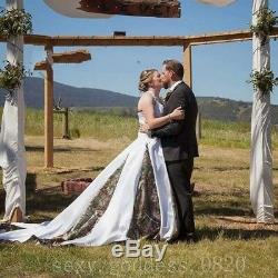 Vintage Country Camo Wedding Dresses Lace Applique Satin Camouflage Bridal Gowns